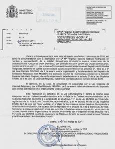 Registro Ministerio